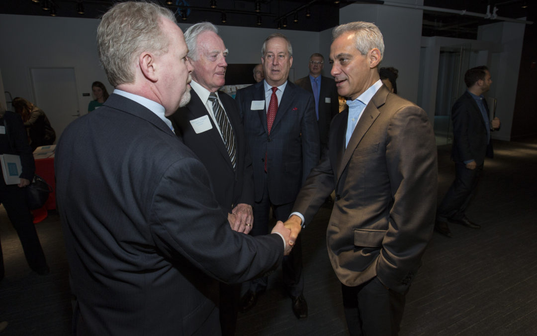 Photos: American Writers Museum Press Conference with Mayor Rahm Emanuel
