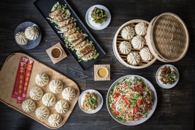 tabletop with assortment of bao