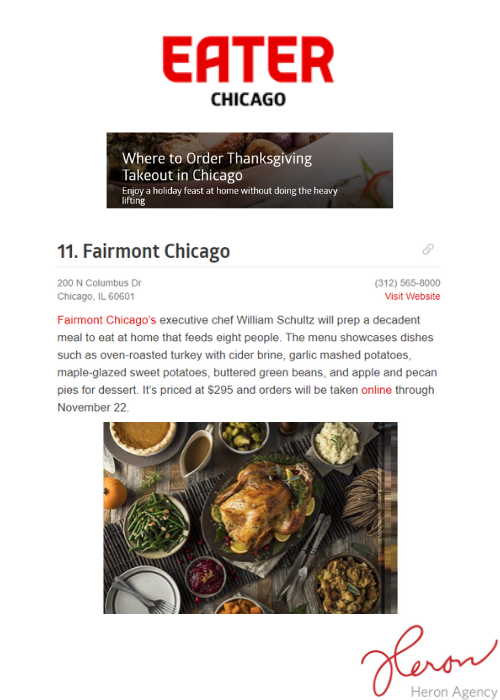 EATER placement for Fairmont