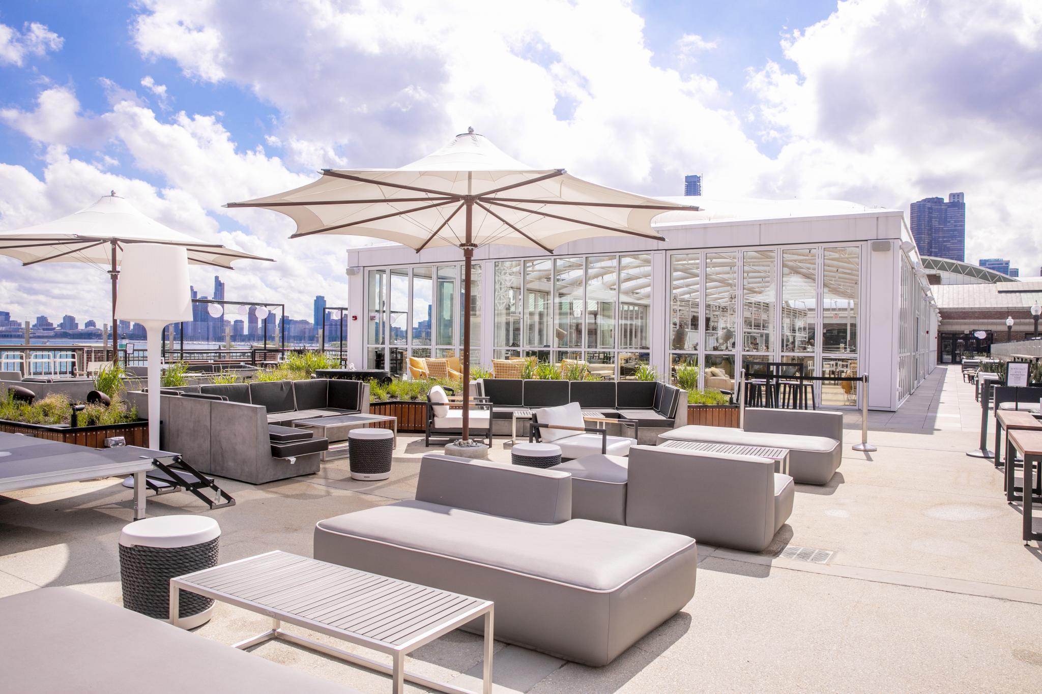 outdoor rooftop patio
