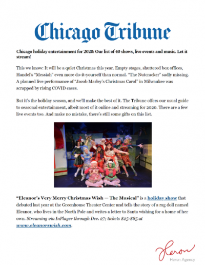 Chicago Tribune Media Placement