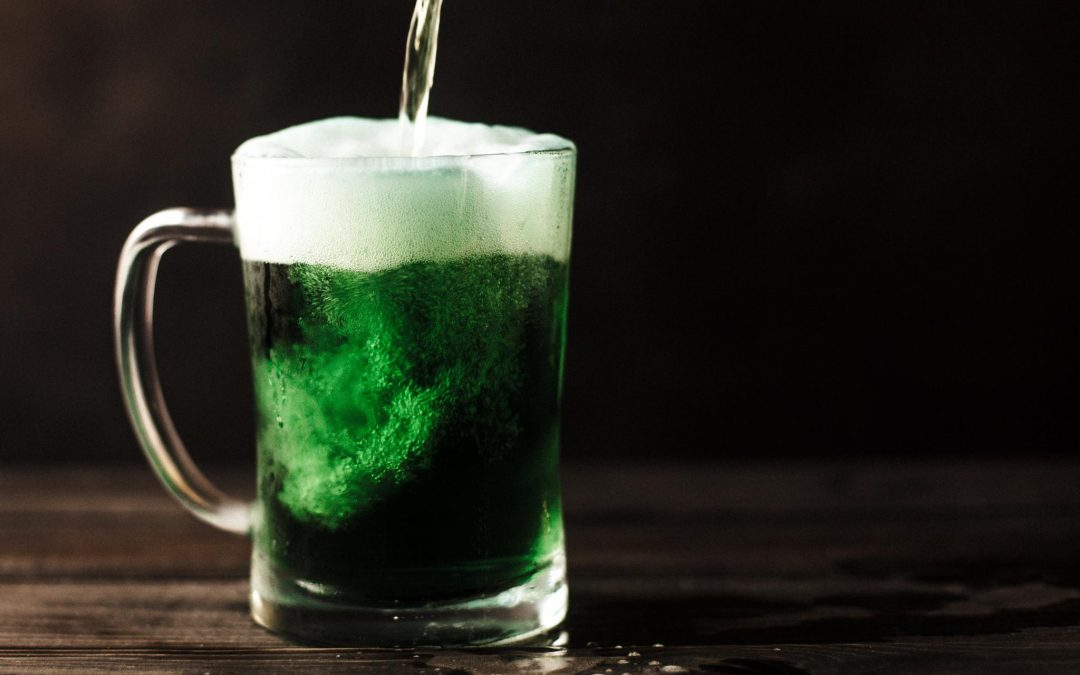 green beer on table